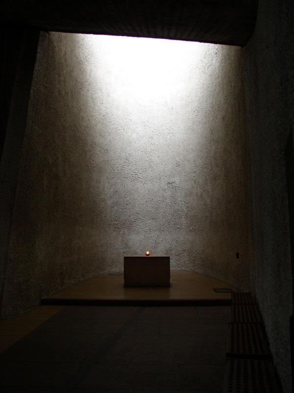 fig 1 apse in the chapel of notre dame du haut at ronchamps le