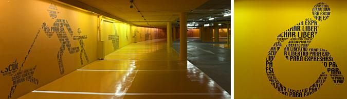 Parking garage; Designer - Teresa Sapey; Hotel Puerta America, Madrid